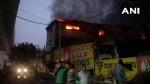 दिल्ली के प्रताप नगर में फैक्ट्री में लगी भीषण आग, एक शख्स की मौत