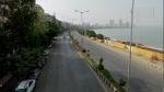 महाराष्ट्र में लॉकडाउन: पाबंदी लगने से सड़कें हुईं ऐसी सुनसान, नहीं खुलीं दुकानें, मुंबई मरीन ड्राइव भी सूना