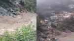 उत्तराखंड के देवप्रयाग में बादल फटने से तबाही, SDRF की टीमें लगी राहत बचाव के काम में