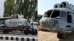 ट्रक पर वायुसेना के तीन हेलीकॉप्टर लादकर अपने गोदाम पहुंचा कबाड़ी, आसपास के लोग हर गए हैरान