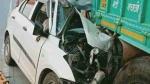 यमुना एक्सप्रेस-वे पर खड़े ट्रक में पीछे से टकराई तेज रफ्तार कार, एक ही परिवार के तीन लोगों की मौत