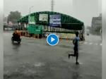VIDEO- हरियाणा के गुड़गांव शहर में आज फिर बरसे मेघ, सड़कों पर भरा पानी, गर्मी से राहत मिली