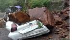 हिमाचल प्रदेश में दो बड़े हादसे, लैंडस्लाइड में कार दबी, लाहौल स्पीति में बाढ़ से एक की मौत, 9 लापता