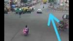 सड़क पार कर रहे युवक को कार ने मारी टक्कर, उछलता हुआ चार फीट दूर जाकर गिरा