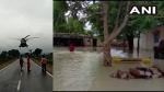 शिवपुरी के कोलारस में भारी बारिश : बाढ़ में फंसे लोगों को भारतीय वायुसेना के हेलीकॉप्टरों ने बचाया