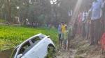 अररियाः अनियंत्रित कार पानी से भरे गड्ढे में गिरी, 5 लोगों की मौत और एक घायल