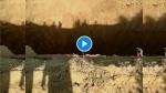 VIDEO : बीकानेर में अचानक धंस गई खेत की जमीन, 100 फीट चौड़ा और 60 फीट गहरा गड्ढा बना