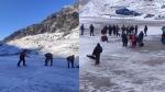 पहाड़ों में बर्फबारी और बारिश के बीच भी चार धाम यात्रा है जारी, रास्तों से बर्फ हटाने का चल रहा है काम