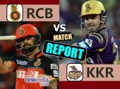 KKRvRCB Live: बेंगलुरू को लगा आठवां झटका, बद्री आउट