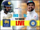 INDvSL Live: पढ़ें दूसरे दिन के खेल का लाइव अपडेट