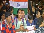 विश्वकप के बाद भारत लौटी महिला क्रिकेट टीम का जोरदार स्वागत