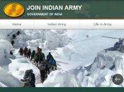 भारतीय सेना की नई वेबसाइट joinindianarmy.nic.in