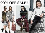 कपड़ों पर 90% तक की छूट देने वाले ऑनलाइन शॉपिंग ऑफर