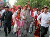 Arpana Yadav on Cycle Yatra