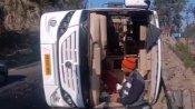 बिलासपुरः केरल से मनाली जा रही बस पंचर होने के कारण पलटी, 51 छात्र थे सवार