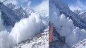 हिमाचल प्रदेश में आया खतरनाक हिमस्खलन, कैमरे में कैद हुआ भयावह Video