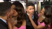 VIDEO: प्रियंका ने निक को किया किस, पति के होठों पर अपनी लिपस्टिक देख शर्माईं, लगीं पोंछने