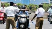 बिना हेलमेट बाइक चला रहा था नाबालिग, नए नियम के तहत कटा 42 हजार 500 का चालान