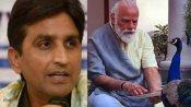 मोर को दाना खिलाते देख बोले कुमार विश्वास- पीएम दे रहे हैं वि-पक्षियों को Once More का संदेश