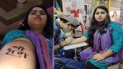 अयोध्या में मंदिर के भूमि पूजन से खुश बनारस की मुस्लिम युवती ने कलाई पर गुदवाया 'श्रीराम' का टैटू