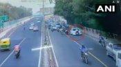 VIDEO: कार रोकी तो पुलिसवाले को बोनट पर घसीटा, कुछ दूर ले जाकर सड़क पर पटका
