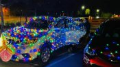 कैलिफोर्निया में भी दिवाली की धूम, LED से कारों को सजाकर की परेड