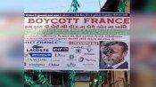 गुजरात में 'बायकॉट फ्रांस' के बैनर टांगे, वहां के राष्ट्रपति के चेहरे पर दिखाया जूते का निशान, केस दर्ज