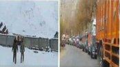 VIDEO:जोजिला में फिर से भारी बर्फबारी, लद्दाख-J&K हाइवे बंद
