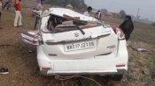 नालंदाः 8 लोगों से भरी अनियंत्रित तेज रफ्तार कार खेत में गिरी, दो की मौत