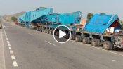 256 टायरों वाला ट्रेलर, 50 दिन में तय करेगा 1190 किमी का सफर, देखें वीडियो
