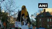 अमेरिका: किसान प्रदर्शन में खालिस्तानी समर्थकों ने महात्मा गांधी की प्रतिमा तोड़ी, वीडियो भी आया सामने