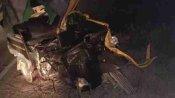 कुशीनगर: टेंपो की ट्रैक्टर ट्राली से हुई जोरदार टक्कर, चार की मौत, तीन घायल