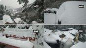 शिमला-मसूरी में सीजन की पहली बर्फबारी, वैष्णो देवी में भी बिछी सफेद चादर, सैलानियों के खिले चेहरे