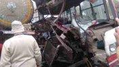 यूपी के सम्भल में बस और गैस टैंकर की टक्कर, 7 लोगों की मौत
