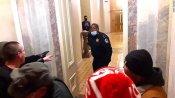 Capitol हिंसा के दौरान भीड़ से सीनेट चैंबर को बचाने वाले पुलिस अफसर को मिली कमला हैरिस की सुरक्षा की कमान