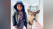 चार साल का बच्चा हिरन के बच्चे के साथ लौटा घर, दोनों को साथ देख मां हुई हैरान, तस्वीर वायरल