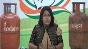 LPG के बढ़ते दामों को लेकर कांग्रेस ने सरकार को घेरा, सिलेंडर लेकर प्रेस कॉन्फ्रेंस में पहुंची प्रवक्ता