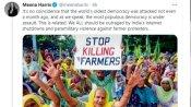 किसान आंदोलन को इंटरनेशनल समर्थन: रिहाना और ग्रेटा थनबर्ग के बाद कमला हैरिस की भांजी भी आई किसानों के साथ