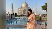 एक्ट्रेस Mouni Roy ने ताजमहल के सामने कराया फोटोशूट, इस अंदाज में आईं नजर