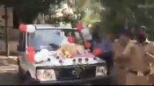 स्निफर डॉग के रिटायर होने पर पुलिस विभाग ने दी अनोखी फेवरेल, देखें वायरल वीडियो