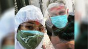 क्वारंटीन रहते हुए कोरोना पॉजिटिव मिलिंद सोमन ने मनाई होली, PPE किट में आई पत्नी को नहीं लगा पाए गले
