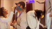 अंकिता लोखंडे ने ब्वॉयफ्रेंड विकी के साथ होली खेलते हुए पैर छूकर मांग में भरा गुलाल, वीडियो वायरल