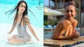 स्विमिंग पूल में भीगे बदन मलाइका ने शेयर की फोटो, लिखा- आ गई गर्मी