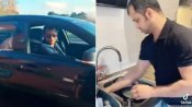 VIDEO: सूट-बूट पहनकर BMW से उतरा पति, पत्नी ने उतरवाए कपड़े और धुलवाए बर्तन