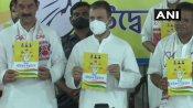 असम चुनाव के लिए कांग्रेस ने जारी किया अपना घोषणा पत्र, राहुल गांधी बोले- 'ये गारंटी का हथियार'