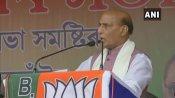 असम: कांग्रेस पर साधा राजनाथ सिंह ने निशाना, कहा- धर्म विशेष के लोगों के समर्थन के लिए AIUDF से किया समझौता