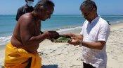 श्रीलंका में इंडियन हाई कमिश्नर ने रामसेतु पर की पूजा, दोनों देशों की दोस्ती मजबूत होने की कामना