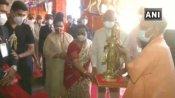 राष्ट्रपति राम नाथ कोविंद यूपी आए, CM योगी संग मिर्जापुर के मां विंध्यवासिनी मंदिर में किए दर्शन