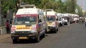 कोरोना का कहर: अहमदाबाद सिविल हॉस्पिटल के बाहर लगी एंबुलेंस की लंबी कतारें, श्मशान भी शवों से अटे