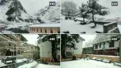 सफेद बर्फ की चादर से ढकी बद्रीनाथ की वादियां, देखें खूबसूरत तस्वीरें
